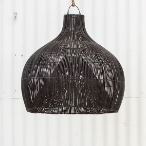Dari Rattan Oversized Light Shade in Black