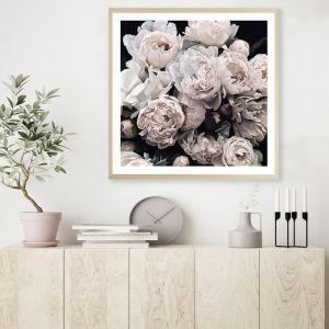 Dark Blooms II Square Premium Art Print (Various Sizes)