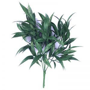 Dark Green Tipped Willow Oak Stem | UV Resistant | 30cm