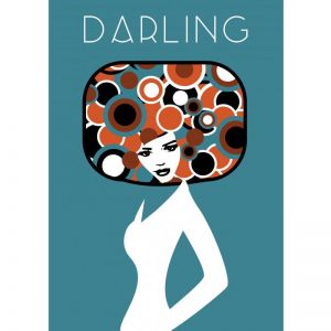 Darling Poster | ​Custom design for Charlotte and Josh | by Design by Mouse