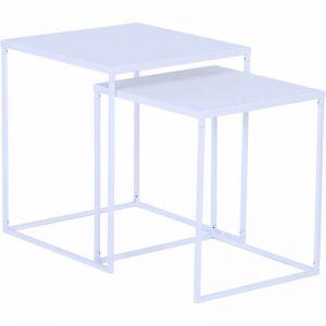 Darnell Nest Of 2 Tables 40Cm | White