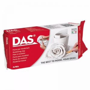 DAS Air Hardening Modelling Clay 500g | White
