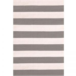 Dash & Albert Catamaran Stripe Fieldstone/Ivory Indoor-Outdoor Rug  | 76x243cm