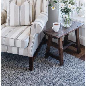 Dash & Albert Marled Indigo Cotton Woven Rug | 121x182cm