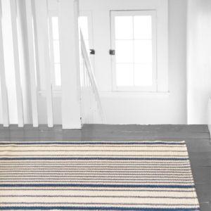 Dash & Albert Mattress Ticking Cotton Woven Rug | 60 x 91cm