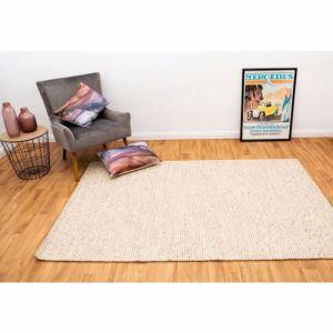 Dasha | Ivory Beige | Handmade Wool Rug