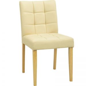 Davin Dining Chair | Oak + Cream | Modern Furniture