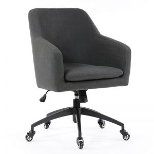 Davis Desk Chair | Charcoal | by Black Mango