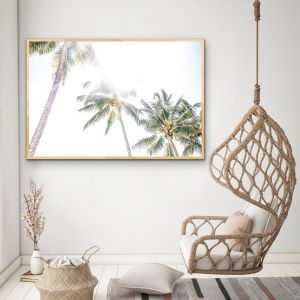 Daydream Island | Boho Palm Tropical Wall Art or Canvas Print