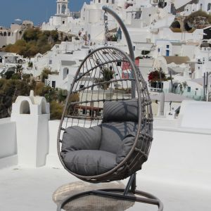 Dayton Outdoor Foldable Hanging Egg Chair | By Remarkable Furniture