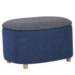 Daytona Ottoman with Storage | Small | Midnight Blue