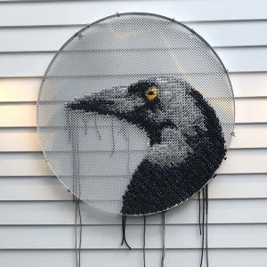 Deceitful Currawong (aka Magpie) | Rope Wall Hanging