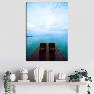 Deck Chairs | Canvas Print by United Interiors