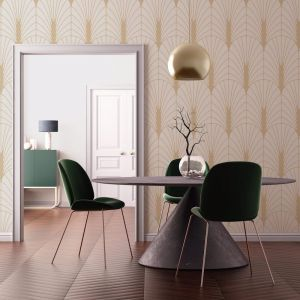 Deco Fantail – Gold | WALLPAPER