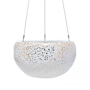 Decorative Pebble Hanging Planter by Angus & Celeste | Gold Speckle