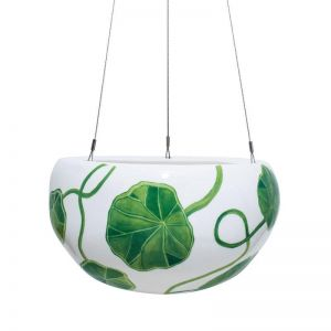 Decorative Pebble Hanging Planter by Angus & Celeste | Green Nasturtium