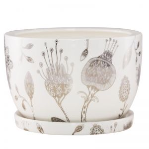 Decorative Plant Pot by Angus & Celeste | Silver Garden