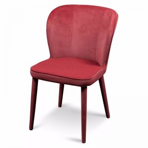Deena Dining Chair | Ruby Red Velvet
