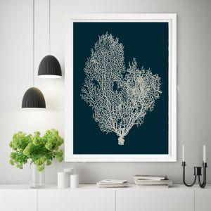 Deep Blue Coral | Framed Wall Art