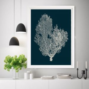Deep Blue Coral | Framed Wall Art by Beach Lane