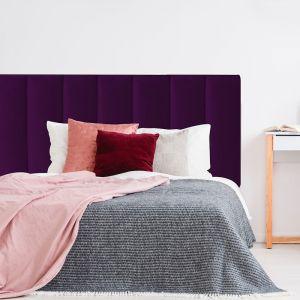 Deep Purple Velvet Panelled Upholstered Bedhead | All Sizes | Custom Made by Martini Furniture