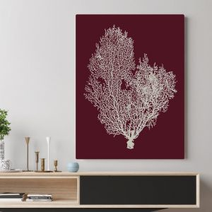 Deep Red Coral | Canvas Wall Art by Beach Lane