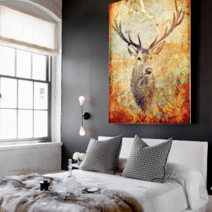 Deer Hunter Burnt Orange | Canvas Art
