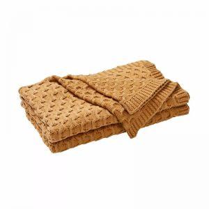 Delaney Throw Blanket - Dijon | by Weave Home