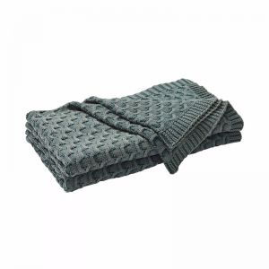 Delaney Throw Blanket - Ivy Green | by Weave Home