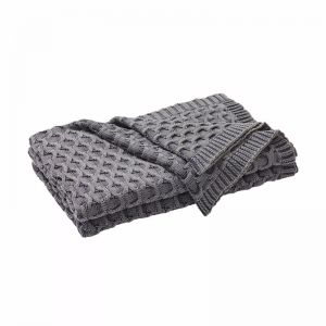 Delaney Throw - Monument Grey Throw Rug | by Weave Home