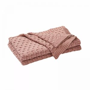Delaney Throw Rug - Cameo Pink | by Weave Home