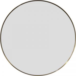 Delano Round Mirror | Brushed Brass