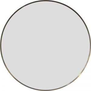 Delano Round Mirror | Brushed Brass