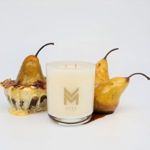 Deliciously Decadent Candle | Pear Brulee by Mitch and Mark | Personally signed