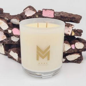 Deliciously Decadent Candle | Rocky Road by Mitch and Mark | Personally signed