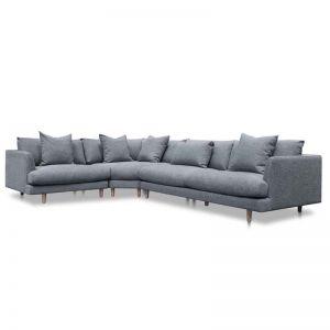Della Left Return Modular Sofa - Graphite Grey