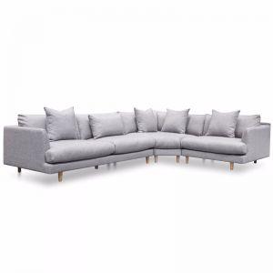 Della Modular Fabric Sofa   Coin Grey