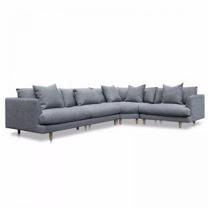 Della Right Return Modular Fabric Sofa - Graphite Grey