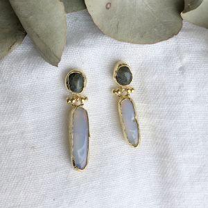 Delphina Double Drop Earrings