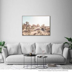Desert Haze | Canvas Print by United Interiors