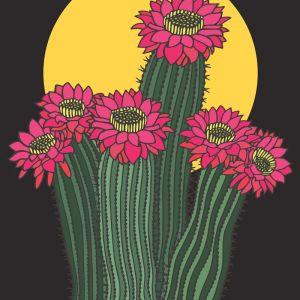 Desert Moon Rising | Art Print