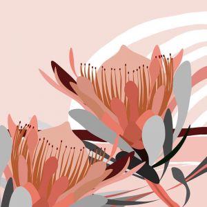 Desert Walk | Art Print | Framed in Oak