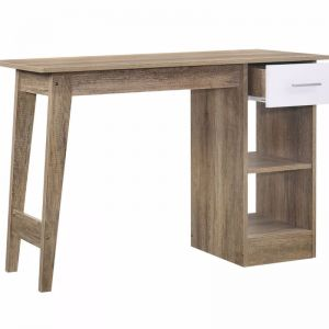 Desk  with Drawer and Shelves | Oak