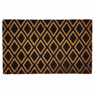 Diamond Doormat | Phthalate Free PVC Backed | Natural / Black