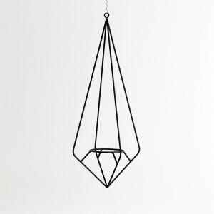 Diamond Plant Hanger in Matt Black | by Capra Designs