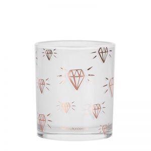 Diamond Print   LRG Candle   Rose Gold   by Damselfly