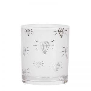 Diamond Print   LRG Candle   Silver   by Damselfly