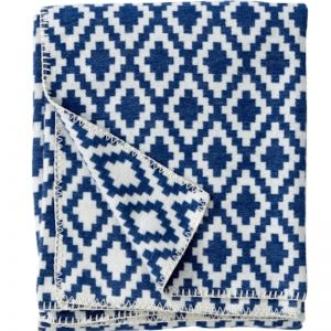 Diamonds Cotton Blanket | Blue