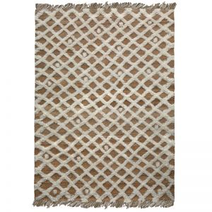 Diamonds Weave Rug by Amigos de Hoy | White