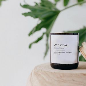 Dictionary Meaning Soy Candle | Christmas